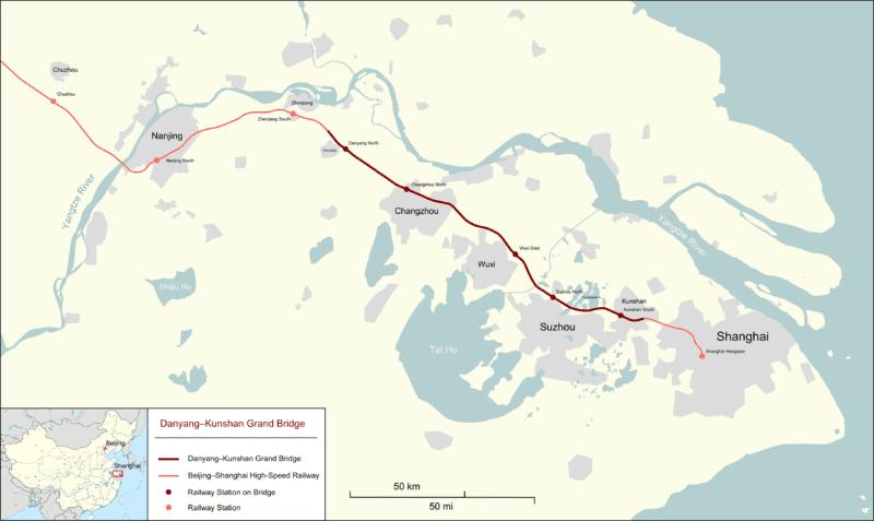 даньян-куньшаньский виадук на карте
