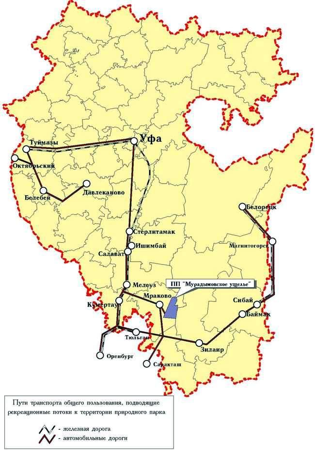 Мурадымовское ущелье на карте