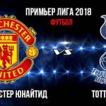 Манчестер Юнайтед — Тоттенхэм 27 августа — трансляция, счет