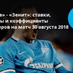 Мольде - Зенит 30 августа 2018 - трансляция, счет