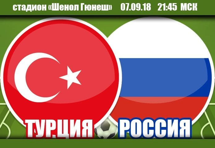 Турция - Россия 7 сентября футбол