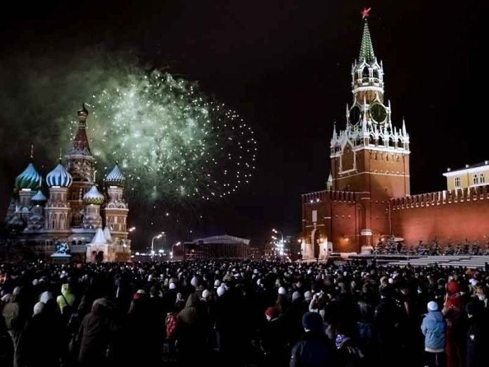 новый год 2020 в москве на красной площади