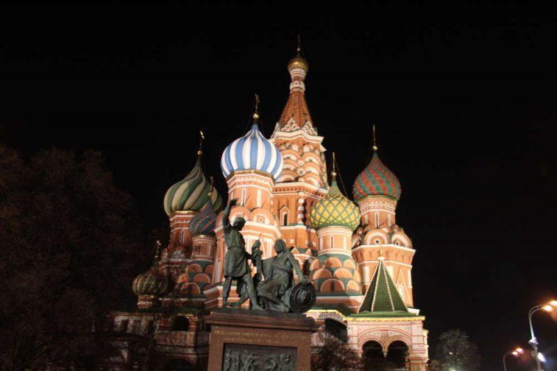 храм василия блаженного фото ночью осенью