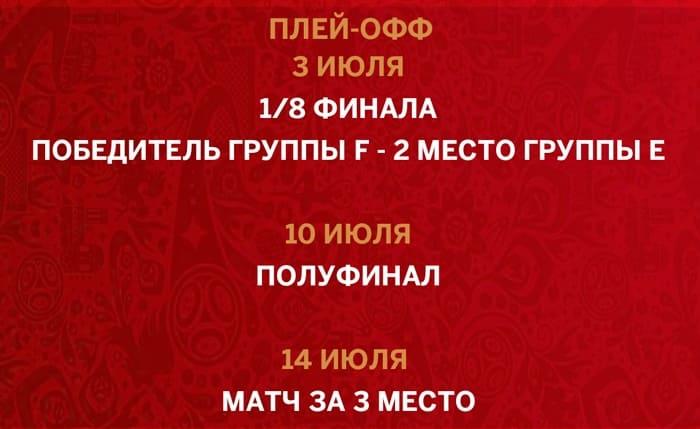 даты проведения чемпионата мира по футболу 2018 в Санкт-Петербурге - плей-офф
