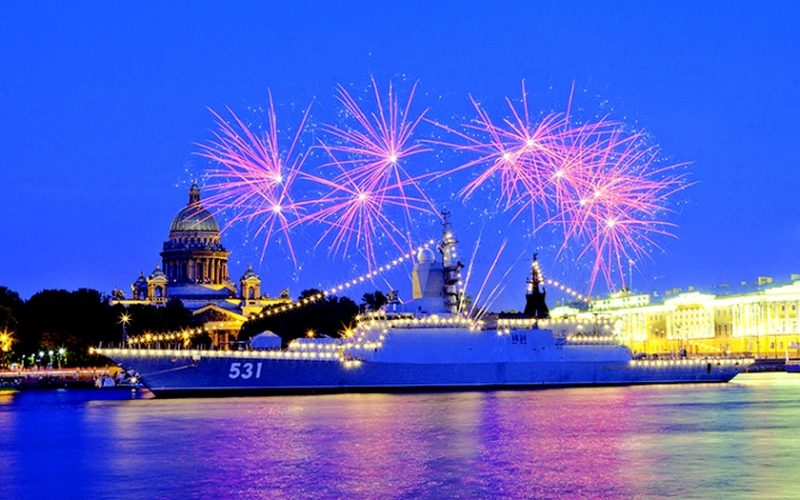 День вмф 2019 Санкт-Петербург салют