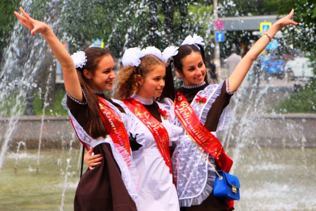 Последний звонок в школах России 2020