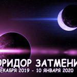 Коридор затмений в 2020 году