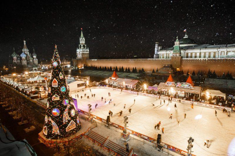 новогодняя программа в Москве 2020 каток фото